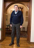 Il giornalista sportivo Rino Tommasi ritratto nella sua abitazione a Roma, 29 aprile 2011..Italian sports journalist Rino Tommasi portrayed in his house in Rome, 29 april 2011..UPDATE IMAGES PRESS/Riccardo De Luca