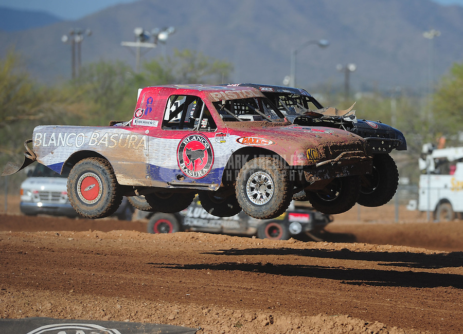 Apr 16, 2011; Surprise, AZ USA; LOORRS driver Pete Sohren (22) during round 3 at Speedworld Off Road Park. Mandatory Credit: Mark J. Rebilas-.