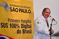 SÃO PAULO, SP, 16, DE FEVEREITO 2012 – PRIMEIRO HOSPITAL 100% DIGITAL DO BRASIL – O governador Geraldo Alckmin anunciou na manhã de quinta-feira (16) o primeiro hospital público 100% digital do Brasil, no Instituto do Câncer do Estado de São Paulo (Icesp). No evento, o governador foi cadastrado como médico anestesista do hospital e recebeu um jaleco. (FOTO: CAIO BUNI / BRAZIL PHOTO PRESS).