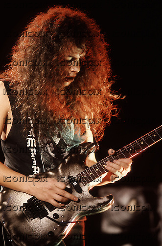 Kirk Hammett of Metallica performing live on the Justice For All Tour at the Hammersmith Odeon, London - 10 Oct 1988.