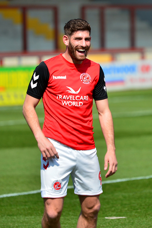 Fleetwood Town's Ched Evans warms up<br /> <br /> Photographer Richard Martin-Roberts/CameraSport<br /> <br /> The EFL Sky Bet League One - Fleetwood Town v Peterborough United - Friday 19th April 2019 - Highbury Stadium - Fleetwood<br /> <br /> World Copyright © 2019 CameraSport. All rights reserved. 43 Linden Ave. Countesthorpe. Leicester. England. LE8 5PG - Tel: +44 (0) 116 277 4147 - admin@camerasport.com - www.camerasport.com
