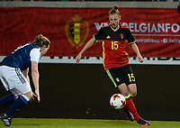 20170411 - LEUVEN ,  BELGIUM : Belgian Yana Daniels pictured during the friendly female soccer game between the Belgian Red Flames and Scotland , a friendly game in the preparation for the European Championship in The Netherlands 2017  , Tuesday 11 th April 2017 at Stadion Den Dreef  in Leuven , Belgium. PHOTO SPORTPIX.BE | DAVID CATRY