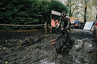 CX world champion Wout Van Aert (BEL/Crelan-Charles)<br /> <br /> Elite Men's race<br /> Superprestige Gavere / Belgium 2017