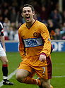 11/03/2006         Copyright Pic: James Stewart.File Name : sct_jspa08_motherwell_v_falkirk.SCOTT MCDONALD CELEBRATES AFTER HE SCORES THE SECOND FOR MOTHERWELL....Payments to :.James Stewart Photo Agency 19 Carronlea Drive, Falkirk. FK2 8DN      Vat Reg No. 607 6932 25.Office     : +44 (0)1324 570906     .Mobile   : +44 (0)7721 416997.Fax         : +44 (0)1324 570906.E-mail  :  jim@jspa.co.uk.If you require further information then contact Jim Stewart on any of the numbers above.........