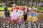 Billy Naughton, Rebecca Naughton, Maja Waosik, Cillian O'Mahony, Ashling O'Mahony, Alannah O'Mahony at the Kids Fancy Dress Easter Fun Run in Tralee Town Park on Saturday