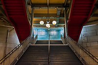 Stairway at the Cite station of the Paris metro, opened in 1910