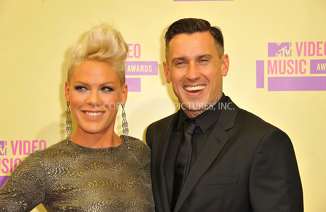 WWW.ACEPIXS.COM....September 6, 2012, Los Angeles, CA.......Pink and Carey Hart  arriving at the 2012 MTV Video Awards at the Staples Center on September 6, 2012 in Los Angeles, California. ..........By Line: Peter West/ACE Pictures....ACE Pictures, Inc..Tel: 646 769 0430..Email: info@acepixs.com