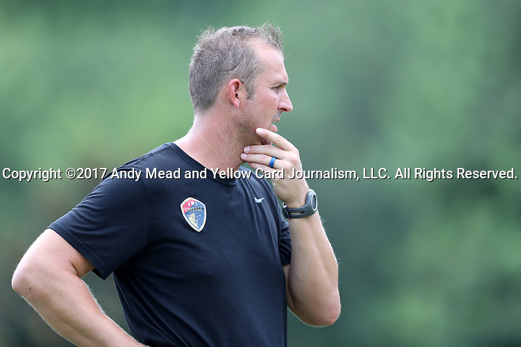 CARY, NC - JULY 11: Scott Vallow. The North Carolina Courage held a training session on July 11, 2017, at WakeMed Soccer Park Field 6 in Cary, NC.