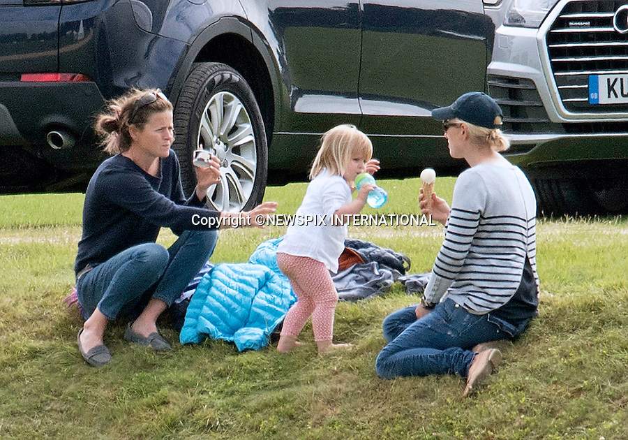 18.06.2016; Westonbirt, UK: ZARA TINDALL AND DAUGHTER MIA<br /> attend a charity polo match that Prince William played in Gloucestershire<br /> Mandatory Credit Photo: &copy;Dias/NEWSPIX INTERNATIONAL<br /> <br /> (Failure to credit will incur a surcharge of 100% of reproduction fees)<br /> IMMEDIATE CONFIRMATION OF USAGE REQUIRED:<br /> Newspix International, 31 Chinnery Hill, Bishop's Stortford, ENGLAND CM23 3PS<br /> Tel:+441279 324672  ; Fax: +441279656877<br /> Mobile:  07775681153<br /> e-mail: info@newspixinternational.co.uk<br /> Please refer to usage terms. All Fees Payable To Newspix International
