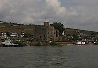 General view of  the Rheingauer Weinmuseum Br&ouml;mserburg, R&uuml;desheim am Rhein, Hesse, Germany.<br /> <br /> Gesamtansicht der Rheingauer Weinmuseum Br&ouml;mserburg, R&uuml;desheim am Rhein, Hesse, Deutschland.