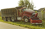 Dump truck sideswiped a car and then swerved and hit pickup truck.  Driver of pickup was extracted by Monrovia Volunteer Fire and Rescue and was taken by Medfight to Huntsville Hospital.  Bob Gathany photo.