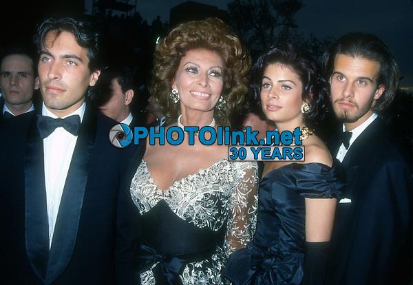 Sophia Loren family, 1993, Photo By Michael Ferguson/PHOTOlink
