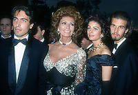 Sophia Loren family, 1993, Photo By Michael Ferguson/PHOTOlink
