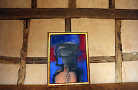Pictured: One of Sidney Nolan's paintings Friday 02 December 2016<br /> The Sidney Nolan Trust, Rodd, Herefordshire, England, UK