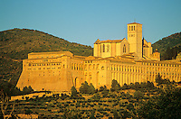 Basilica of Saint Francis in medieval hill town of Assisi, Umbria, Italy, AGPix_0509...