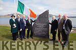 Pictured at the unveiling of the monument to Rosalie Rice and the Ring Brothers Eugene & Tim on Sunday at the Cable Station in Valentia were l-r: Kate Kennelly(Arts officer KCC), Oliver Ring, Minister Jimmy Deenihan, Diarmuid Ring, Austin Ring, Denis Barrett & Pat McCarthy.
