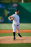 Jackson Generals starting pitcher Josh Taylor (38) delivers a pitch during a game against the Chattanooga Lookouts on April 29, 2017 at The Ballpark at Jackson in Jackson, Tennessee.  Jackson defeated Chattanooga 7-4.  (Mike Janes/Four Seam Images)