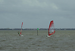 Sails on surf boards provide the chance to dance over the water with the wind.