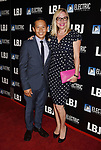 LOS ANGELES, CA - OCTOBER 24: Actor Ernie Reyes Jr. (L) and actress Lisa Reyes arrive at the premiere of Electric Entertainment's 'LBJ' at the Arclight Theatre on October 24, 2017 in Los Angeles, California.