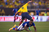 Action photo during the match Ecuador vs Haiti at MetLife Stadium Copa America Centenario 2016. ---Foto  de accion durante el partido Ecuador vs Haiti, En el Estadio MetLife Partido Correspondiante al Grupo - B -  de la Copa America Centenario USA 2016, en la foto: Jean Eudes Maurice<br /> <br /> -- 12/06/2016/MEXSPORT/Javier Ramirez.