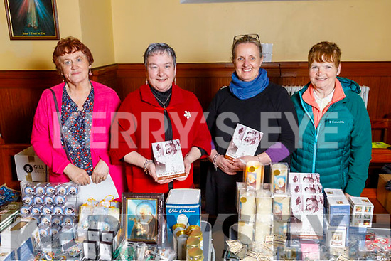 Eileen Lenihan, Nora Fealey (Cordal), Noreen O'Sullivan (Castleisland) and Mary Jane Reidy attending the monthly devotions to Padre Pio in Saints Stephen and John's Church in Castleisland on Tuesday.