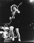 AC/DC 1983 Angus Young.© Chris Walter.