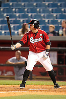 Nashville Sounds first baseman Mat Gamel #6 at bat during a game against the Omaha Storm Chasers at Greer Stadium on April 25, 2011 in Nashville, Tennessee.  Omaha defeated Nashville 2-1.  Photo By Mike Janes/Four Seam Images