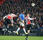 28.11.2019: Feyenoord v Rangers: Alfredo Morelos scores goal no 2