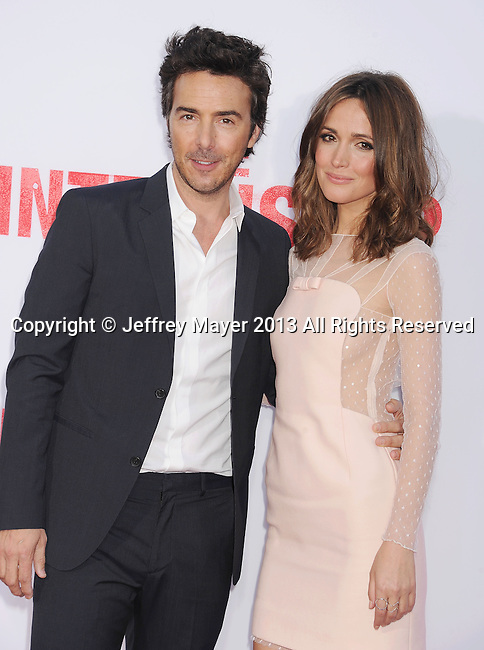 WESTWOOD, CA- MAY 29: Director Shawn Levy and actress Rose Byrne arrive at 'The Internship' - Los Angeles Premiere at Regency Village Theatre on May 29, 2013 in Westwood, California.