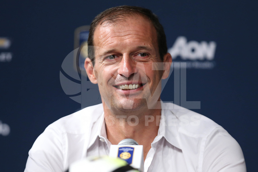 EAST RUTHERFORD, USA, 22.07.2017 - JUVENTUS-BARCELONA - Massimiliano Allegri treinador do Juventus durante coletiva de imrpensa apos partida contra Barcelona valido pela  International Champions Cup 2017 no MetLife Stadium na cidade de East Rutherford, New Jersey. (Foto: Vanessa Carvalho/Brazil Photo Press)