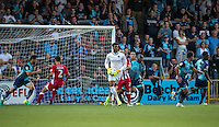 Goalkeeper Jamal Blackman of Wycombe Wanderers gathers the ball during the Sky Bet League 2 match between Wycombe Wanderers and Accrington Stanley at Adams Park, High Wycombe, England on 16 August 2016. Photo by Andy Rowland.