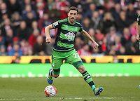 Swansea City's Angel Rangel during the Barclays Premier League match between Stoke City and Swansea City played at Britannia Stadium, Stoke on April 2nd 2016