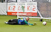O goleiro Deola durante treino do Palmeiras no CT da Barra Funda,na zona oeste de Sao Paulo, na manha desta terça-feira 10.FOTO ALE VIANNA - NEWS FREE.