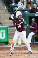 Tate Matheny #26 of the Missouri State Bears at bat during a game against the Wichita State Shockers at Hammons Field on May 5, 2013 in Springfield, Missouri. (David Welker/Four Seam Images)