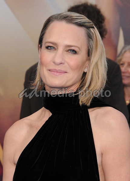 "25 May 2017 - Hollywood, California - Robin Wright Penn. World  Premiere of Warner Bros. Pictures'  ""Wonder Woman"" held at The Pantages Theater in Hollywood. Photo Credit: Birdie Thompson/AdMedia"