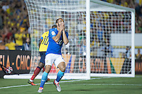 Action photo during the match Brazil vs Ecuador, Corresponding Group -B- America Cup Centenary 2016, at Rose Bowl Stadium<br /> <br /> Foto de accion durante el partido Brasil vs Ecuador, Correspondiante al Grupo -B-  de la Copa America Centenario USA 2016 en el Estadio Rose Bowl, en la foto: Lucas Moura de Brasil<br /> <br /> <br /> 04/06/2016/MEXSPORT/Omar Martinez.