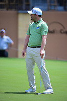 Brandon Grace (RSA) reacts to barely missing his birdie putt on 18 during round 1 of the Valero Texas Open, AT&amp;T Oaks Course, TPC San Antonio, San Antonio, Texas, USA. 4/20/2017.<br /> Picture: Golffile | Ken Murray<br /> <br /> <br /> All photo usage must carry mandatory copyright credit (&copy; Golffile | Ken Murray)