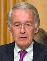 "United States Senator Edward Markey (Democrat of Massachusetts) questions US Secretary of State Rex Tillerson as he gives testimony before the US Senate Committee on Foreign Relations to ""Review of the FY 2018 State Department Budget Request"" on Capitol Hill in Washington, DC on Tuesday, June 13, 2017. Photo Credit: Ron Sachs/CNP/AdMedia"