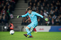 Goalkeeper Fabian Ehmann (Aris) of Austria U21 during the UEFA Euro U21 International qualifier match between England U21 and Austria U21 at Stadium MK, Milton Keynes, England on 15 October 2019. Photo by Andy Rowland.