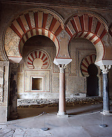 The Royal Reception Hall (Dar Al-Mulk), Caliph?s Palace of Madinat az-Zahra, Córdoba, Andalusia, Spain, circa 936 to 946 AD, erected by Abd ar-Rahman III imitating the Abbasid caliphs in Baghdad in building a royal city just outside the city of Córdoba itself. Picture by Manuel Cohen