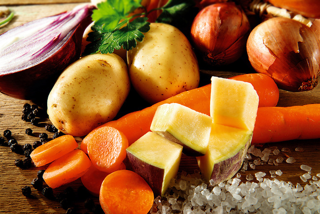 Fresh vegetables, Swede, carrots, onions. Food photos