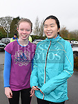 Ciara Reilly and Anna Victory who took part in the Goal Mile at St Fechins GAA club on St Stephen's morning. Photo:Colin Bell/pressphotos.ie