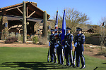 National Anthem before Day 3 of the Accenture Match Play Championship from The Ritz-Carlton Golf Club, Dove Mountain, Friday 25th February 2011. (Photo Eoin Clarke/golffile.ie)