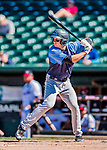 18 July 2018: Trenton Thunder catcher Kellin Deglan in action against the New Hampshire Fisher Cats at Northeast Delta Dental Stadium in Manchester, NH. The Fisher Cats defeated the Thunder 3-2 in a 7-inning, second game of the day. Mandatory Credit: Ed Wolfstein Photo *** RAW (NEF) Image File Available ***