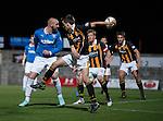 Kris Boyd heads an effort towards goal but sees it saved