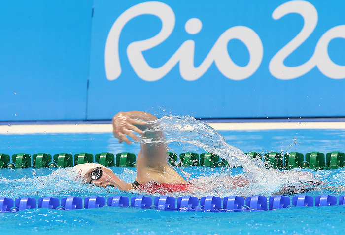 Rio de Janeiro-8/9/2016-Abi Tripp competes in the women's 400m freestyle during the swimming finals at the 2016 Paralympic Games in Rio. Photo Scott Grant/Canadian Paralympic Committee