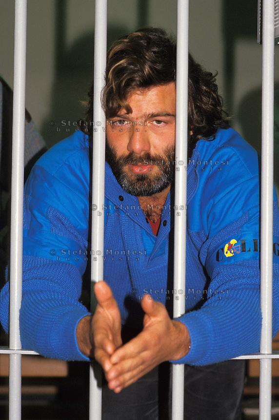Roma 1987..Brigate Rosse.Processo Moro-ter, Aula bunker del Foro Italico. Francesco Piccioni.