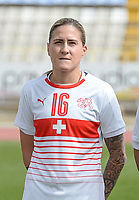20180305 - LARNACA , CYPRUS : Swiss Melanie Muller pictured during a women's soccer game between Switzerland and Wales , on monday 5 March 2018 at GSZ Stadium in Larnaca , Cyprus . This is the third game in group A for Switzerland and Wales during the Cyprus Womens Cup , a prestigious women soccer tournament as a preparation on the World Cup 2019 qualification duels. PHOTO SPORTPIX.BE   DAVID CATRY