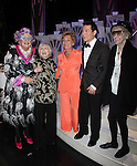 Dame Edna with.Celeste Holm, Judge Judy Sheindlin, Michael Feinstein, and Elaine Stritch.backstage after  the Broadway Opening Finale & Night Curtain Call for ALL ABOUT ME at the Henry Miller Theatre in New York City..March 18, 2010.