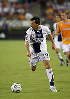 CF Pachuca midfielder Christian Gimenez (19). CF Pachuca defeated Houston Dynamo 4-3 in penalty kicks after a 2-2 tie in regulation and extra time at Robertson Stadium in Houston, TX on August 14, 2007 in the SuperLiga semi-finals.